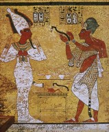 King Aye and King Tutankhamun as Osiris