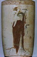 Lekythos with Hermes and Departing Woman
