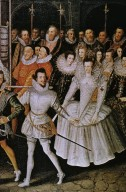 Queen Elizabeth I in Procession with her Courtiers