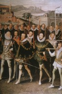 Queen Elizabeth I Being Carried in Procession by her Courtiers