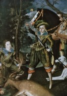 Henry Frederick , Prince of Wales, with Sir John Harington, in the Hunting Field