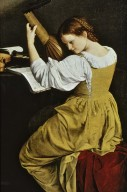 Young Woman Playing the Lute