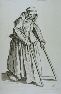 Beggar Woman on Crutches, from The Beggers