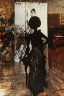 "Woman in Black Who Watches the ""Pastel of Signora Emiliana Concha de Ossa"""