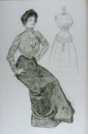 Gibson Girl Wearing the New Blouse and Skirt Combination