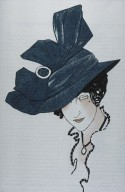 Illustration of Tailored Hat from Gazette du Bon Ton