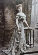 Early Fashion Photograph of Chiffon Gown