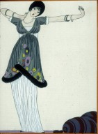 Lassitude Fashion Illustration from La Gazette du Bon Ton