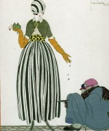 Fashion Illustration of L¿Aumone from La Gazette du Bon Ton