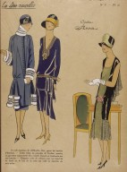 Illustration of Three Women from Les Idees Nouvelles De La Mode et Des Arts