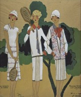 Illustration of Tennis Outfits from Les Idees Nouvelles De La Mode et Des Arts