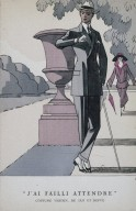 Illustration of a Three Piece Suit from La Gazette du Bon Ton