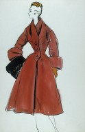 Wool Coat with Wide Cuffed Sleeves