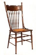 Colonial Revival Press-Back Side Chair