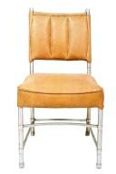 Modern Tubular-Aluminum Side Chair