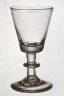 Button-Stem Wineglass