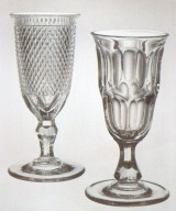 Early Geometric-Style Pressed Jelly Glass
