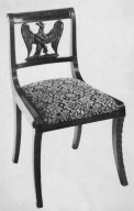 Regency-Style Mahogany Side Chair