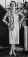 Silk Shantung Dress and Patterned Jacket