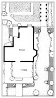 Plan for a Victorian Garden for House with a Terrace