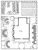 Plan for a Victorian Garden for a House with a Kitchen Garden