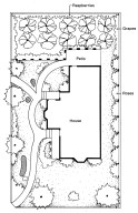 Plan for a Victorian Garden for a House with a Patio