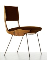 Prototype of a Chair with Shaped Wooden Sides and Metal Legs