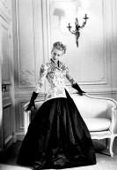 Black Satin Skirt and Linen Jacket