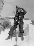 Jane Wyman in a Ski Jumpsuit