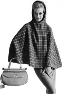 Dashing Hooded Cape and Envelope Handbag
