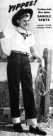 Cowboy-Style Blue Denim Saddle Pants