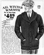 Shawl Collar Men's Cardigan Sweater