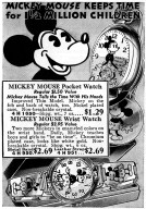 Mickey Mouse Pocket and Wrist Watches