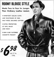 Roomy Blouse Style Horsehide Jacket