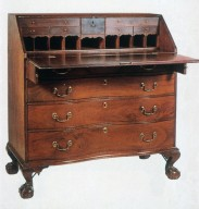 Chippendale Oxbow Slant-Front Desk