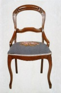 Rococo Revival Balloon-Back Side Chair