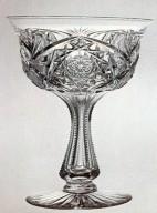 Brilliant Cut Saucer Champagne Glass
