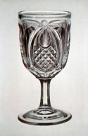 Early Geometric-Style Pressed Wineglass