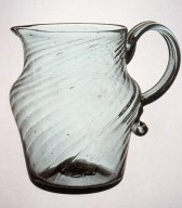 Early Midwestern Ribbed Pitcher