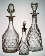Early Geometric-Style Pressed Decanters and Bitters Bottles