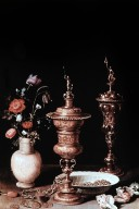 Flowers and Gold Goblets