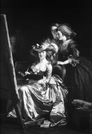 Portrait of the Artist with Two Pupils, Mlle. Marie Gabrielle Capet and Mlle. Carreaux de Rosemond