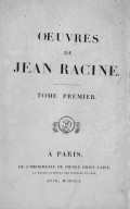 Oeuvres by Jean Racine
