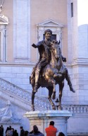 Equestrian Statue of Marcus Aurelius [and Base]