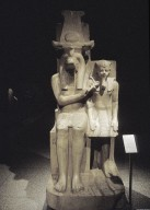 Dyad of Amenophis III and the god Sobek