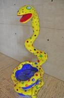 Pouf Serpent Jaune