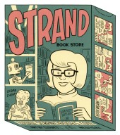 Illustration for the Strand Book Store Tote Bag
