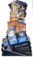 The Acme Novelty Library Freestanding Cardboard Display