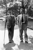 Portrait of Henry L. Kamphoefner with Frank Lloyd Wright