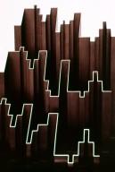 Sculpture: Plastic Representation of Bars 52-55, Fugue in E Flat Minor by JS Bach